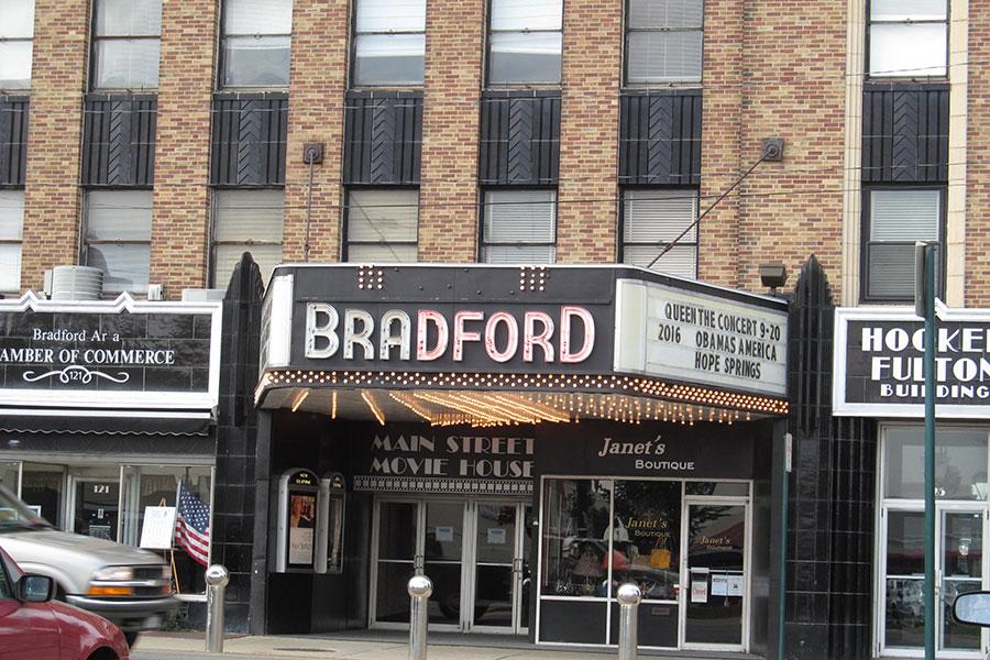 Main Street Movie House in downtown Bradford